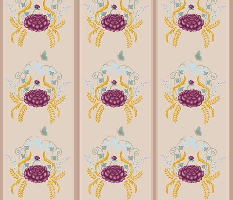 peonydamaskwallpaper fabric by liliflorapretty on Spoonflower - custom fabric