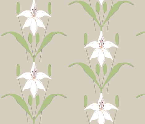 lilies fabric by lbehrendtdesigns on Spoonflower - custom fabric