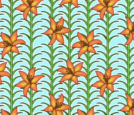 Tigerlilies fabric by sufficiency on Spoonflower - custom fabric