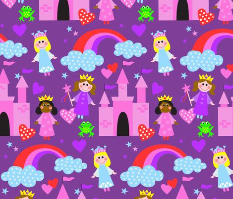 Purple Princesses fabric by lisa_kubenez on Spoonflower - custom fabric