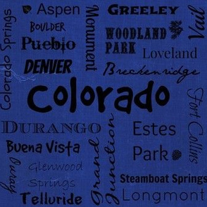 Cities of Colorado - blue
