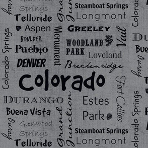 Cities of Colorado-grey