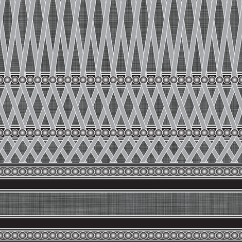 WICKER_BEADS_PLAID_grey fabric by michelle_zollinger_tams on Spoonflower - custom fabric