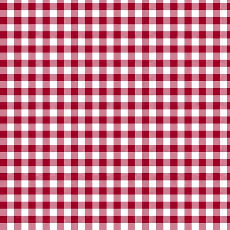 Christmas gingham fabric by weavingmajor on Spoonflower - custom fabric