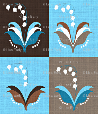 Lily of the Valley / linen textured