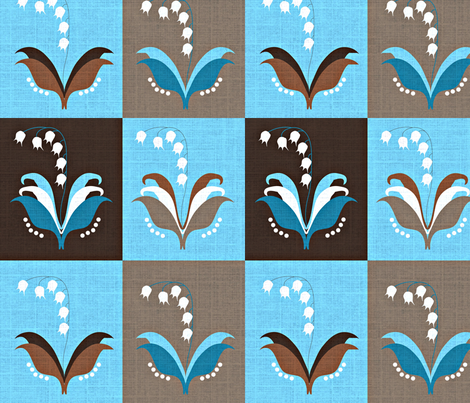 Lily of the Valley / linen textured fabric by vanillabeandesigns on Spoonflower - custom fabric