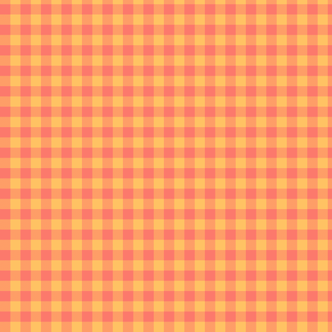 coral flame gingham fabric by weavingmajor on Spoonflower - custom fabric