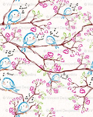 Tweet Bird with Texture