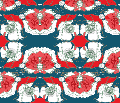 freepoppy fabric by snap-dragon on Spoonflower - custom fabric