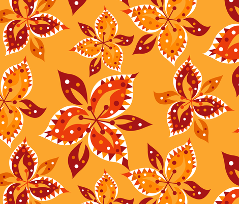 Tiger Lily Tango fabric by celiaforrester on Spoonflower - custom fabric