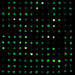 watercolour dots teal on black