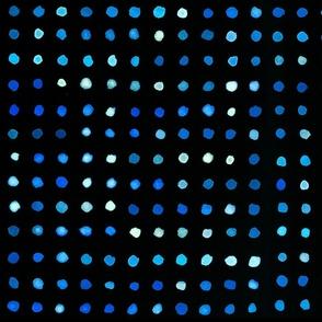 watercolour dots blue on black