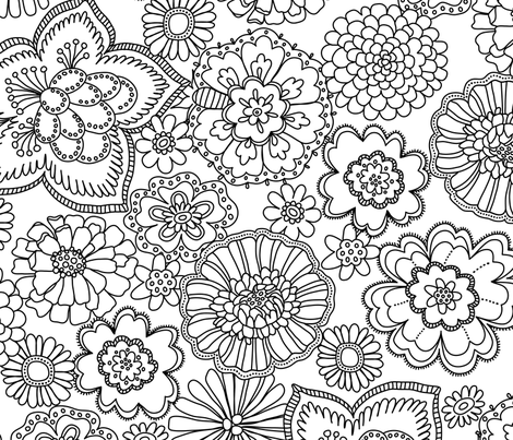 Intricate_Flowers_2 fabric by anderson_lee on Spoonflower - custom fabric