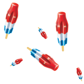 Red White Blue Bomb Pops