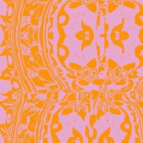 ikat mauve and orange