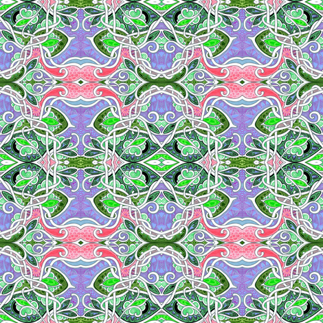 M'Lady's Lily Pond fabric by edsel2084 on Spoonflower - custom fabric