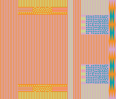 mauve orange stripes spots fabric by bohobanjocloth on Spoonflower - custom fabric