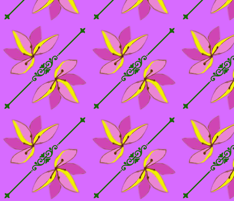 Lily Fourish fabric by namaste203 on Spoonflower - custom fabric