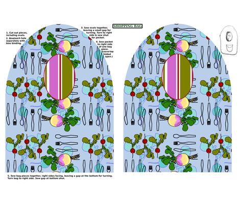 kangaroo pocket shopping bag pattern fabric by nalo_hopkinson on Spoonflower - custom fabric