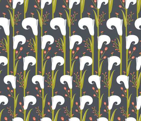 New Beginnings - Lily Love Collection-ch fabric by brookewittdesign on Spoonflower - custom fabric