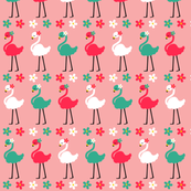 Flamingos and Daisies