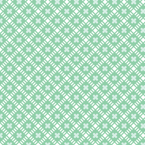 Maysville* (Green Stamps)    geometric diamonds flowers floral garden lattice vintage farm feedsack feed sack plaid pastel fabric by pennycandy on Spoonflower - custom fabric
