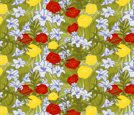 Agape Eros Philia (Love in Greek) fabric by bloomingwyldeiris on Spoonflower - custom fabric