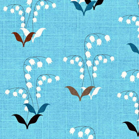 Lily of the Valley Scatter fabric by vanillabeandesigns on Spoonflower - custom fabric