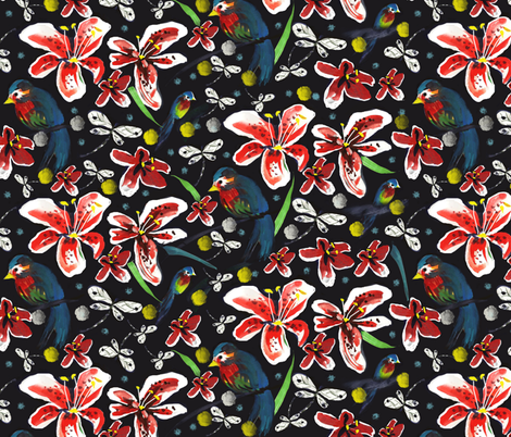 lirios fabric by cousaspequenas on Spoonflower - custom fabric