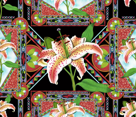 Gilding the Lily fabric by patriciasheadesigns on Spoonflower - custom fabric