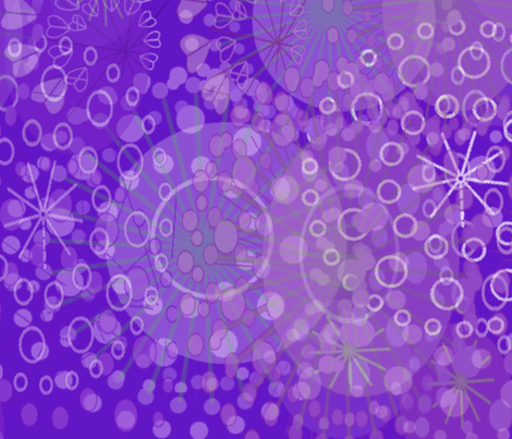 Agapanthus Profusion fabric by josephine_ on Spoonflower - custom fabric