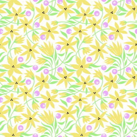 Frilly Lillies fabric by dianne_annelli on Spoonflower - custom fabric