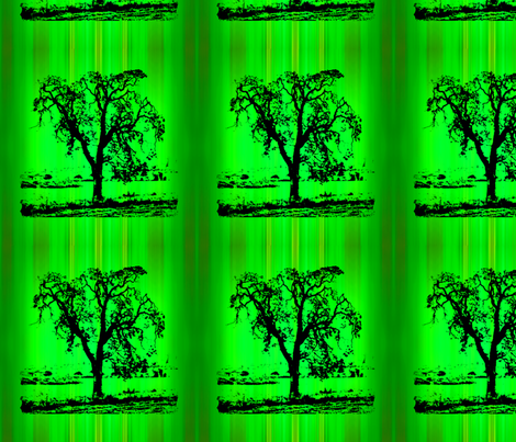Tree on green drip dye fabric by koalalady on Spoonflower - custom fabric