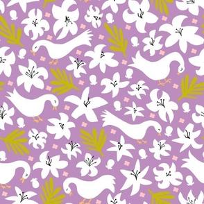 lily + palm (plum)