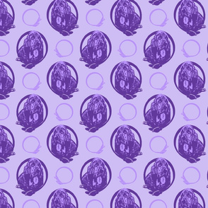 Collared Bloodhound portraits - purple