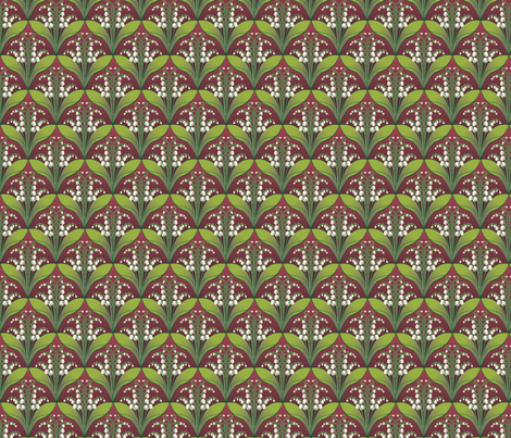 Lilly of the Valley fabric by p_kok on Spoonflower - custom fabric