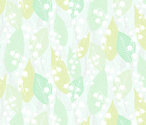Leafy Lily of the Valley fabric by radianthomestudio on Spoonflower - custom fabric