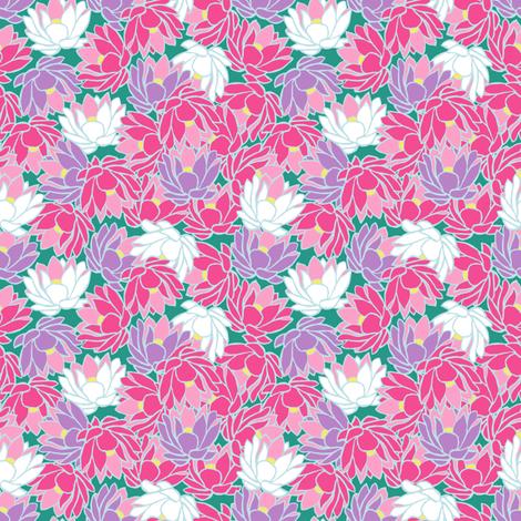 Water Lilies fabric by taramcgowan on Spoonflower - custom fabric