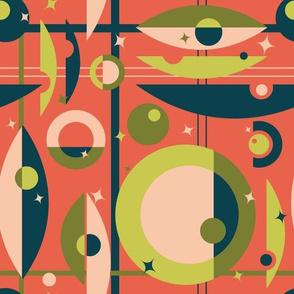 Making the Scene (grid & star)- 10in (shrimp)