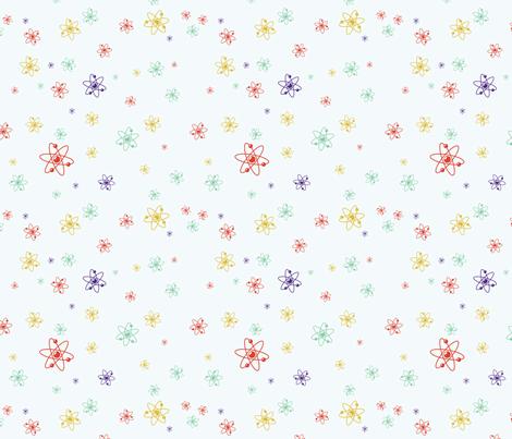 Ditsy Atom - Multi fabric by studiofibonacci on Spoonflower - custom fabric