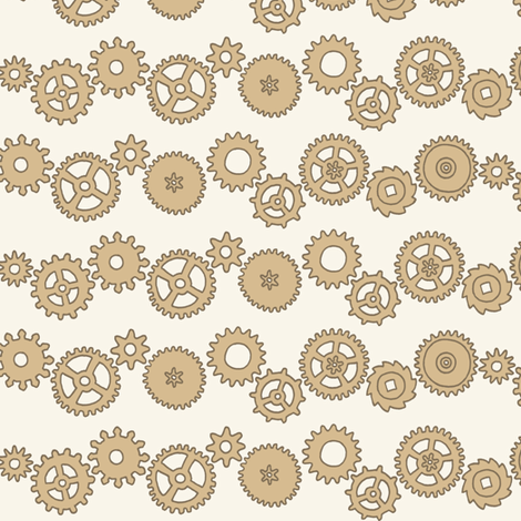 Steampunk Cogs fabric by hazelfishercreations on Spoonflower - custom fabric