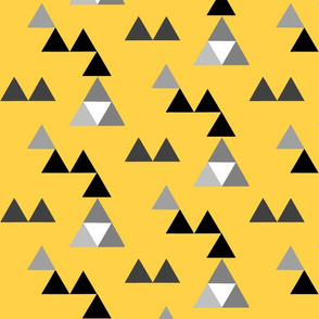 triangles yellow black gray