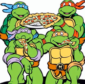 Ninja Turtles W/ Pizza