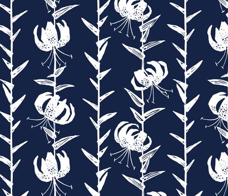 Lily Stripe fabric by jillbyers on Spoonflower - custom fabric