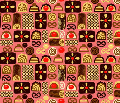 Assorted Confections Pink fabric by studio_amelie on Spoonflower - custom fabric