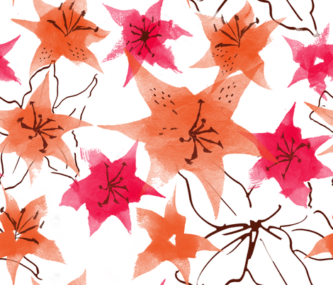 painted_lily_lovelies fabric by karismithdesigns on Spoonflower - custom fabric
