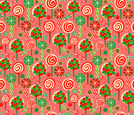Candy Forest Pink fabric by studio_amelie on Spoonflower - custom fabric
