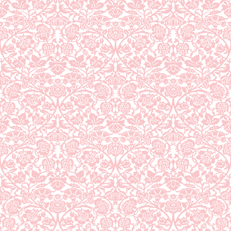 Kensington Damask ~ White and Dauphine fabric by peacoquettedesigns on Spoonflower - custom fabric