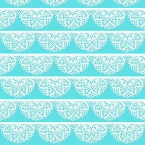 Crochet Scallop / Tiffany Blue