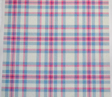 White, Pink, and Blue Plaid